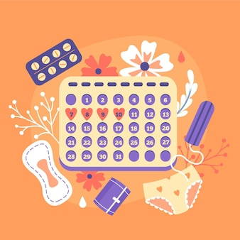 Illustration du concept de calendrier menstruel
