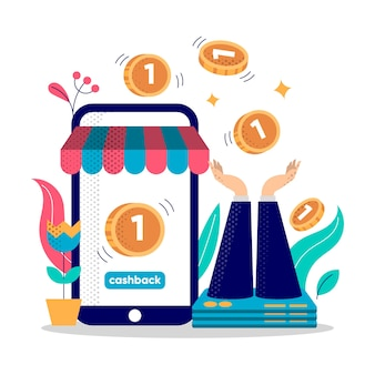 Illustration du concept de cashback