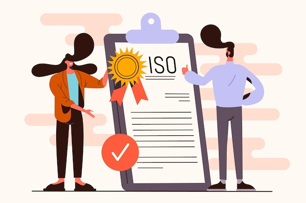Illustration du concept de certification iso
