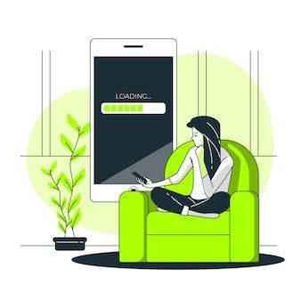 Illustration du concept de chargement