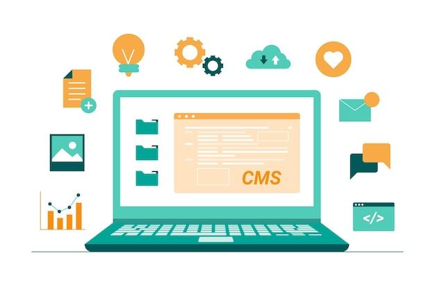 Illustration du concept cms