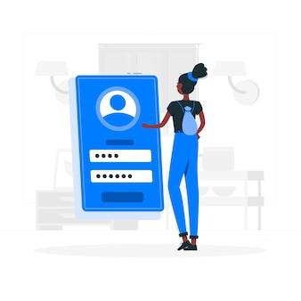 Illustration du concept de connexion