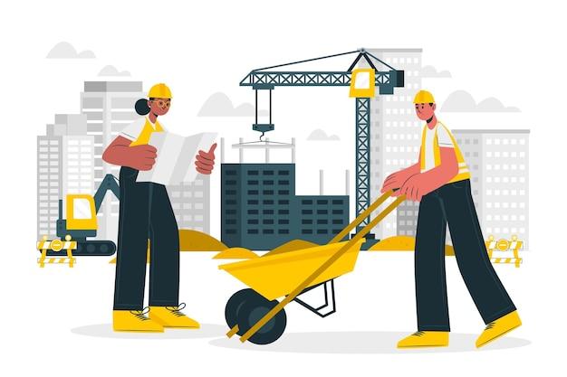 Illustration du concept de construction