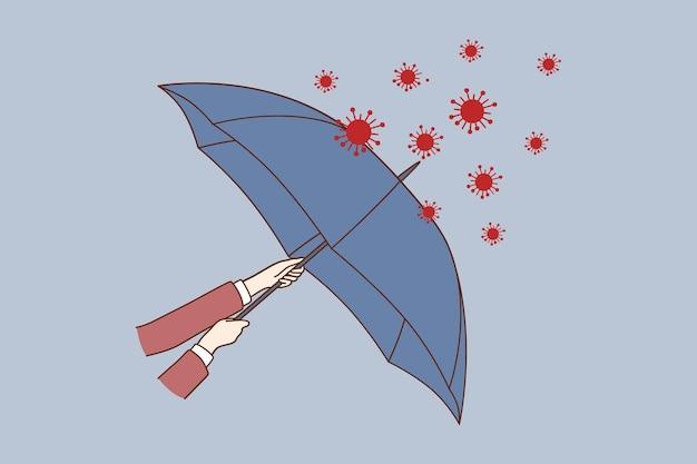 Illustration du concept de danger de covid-19