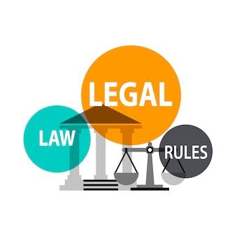 Illustration du concept de loi