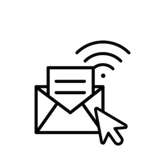 Illustration du concept de message