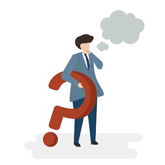 Illustration du concept de service client avatar personnes