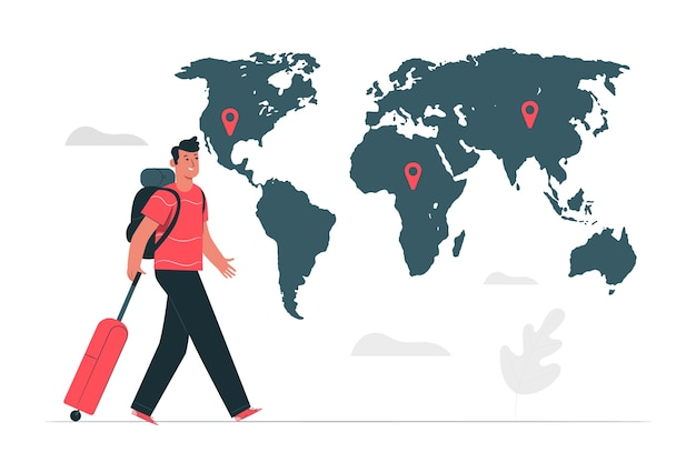 Illustration du concept de destination