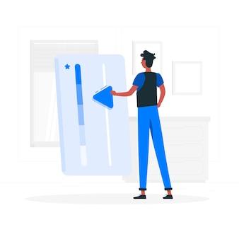 Illustration du concept de diplôme