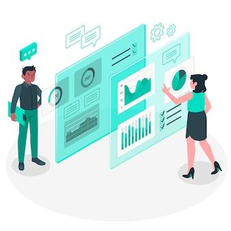 Illustration du concept de données visuelles