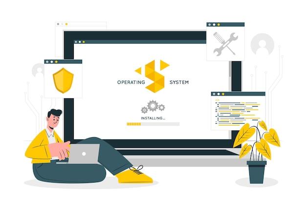 Illustration du concept du système d'exploitation