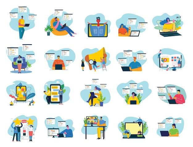Illustration du concept du travail d'équipe, des entreprises et des arrière-plans de conception de démarrage.