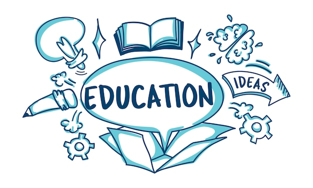 Illustration du concept d'éducation