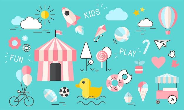 Illustration du concept des enfants