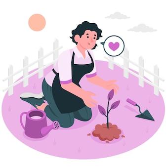 Illustration du concept d'ensemencement