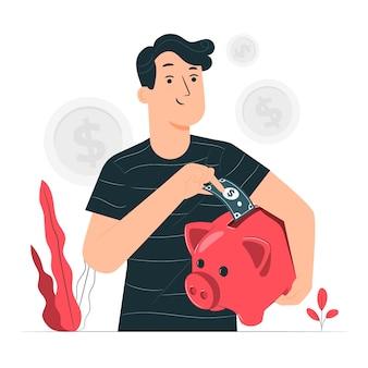 Illustration du concept d'épargne
