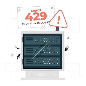 Illustration du concept d'erreur 429