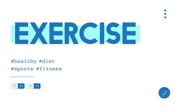 Illustration du concept d'exercice