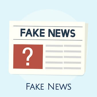 Illustration du concept de fausses nouvelles