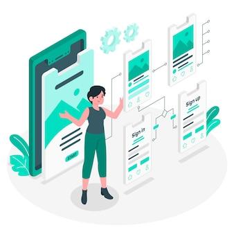 Illustration du concept de flux utilisateur