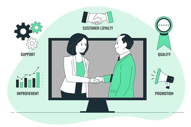 Illustration du concept de gestion de la relation client
