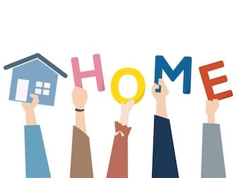 Illustration du concept immobilier