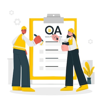 Illustration du concept des ingénieurs qa
