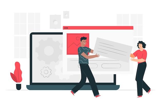 Illustration du concept d'installation