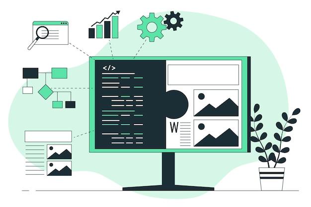 Illustration du concept d'intégration logicielle