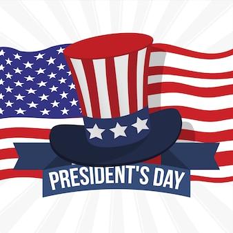 Illustration du concept de la journée du président