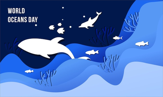 Illustration du concept de la journée mondiale des océans