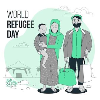 Illustration du concept de la journée mondiale des réfugiés