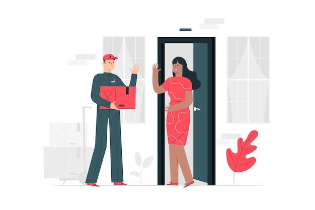 Illustration du concept de livraison