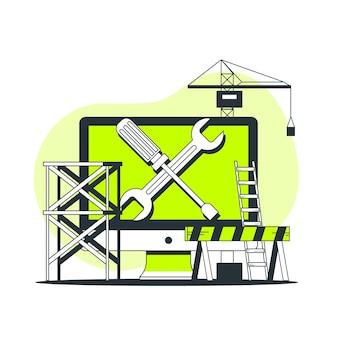 Illustration du concept de maintenance