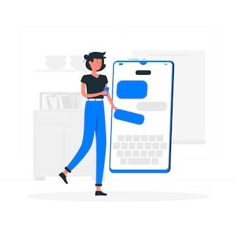 Illustration du concept messenger