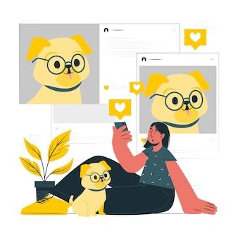 Illustration du concept de mise à jour sociale