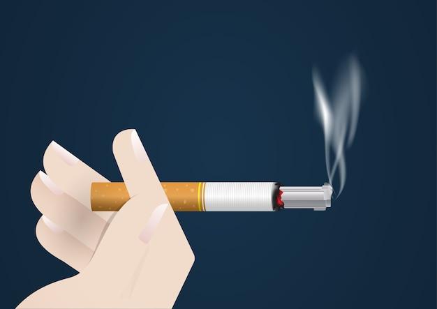 Illustration du concept monde sans fumée.