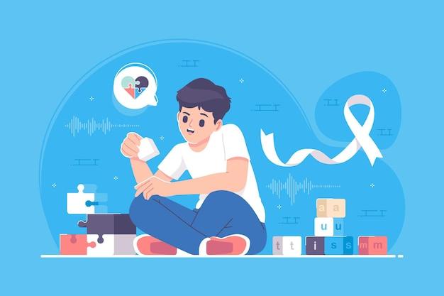 Illustration du concept mondial de l & # 39; autisme