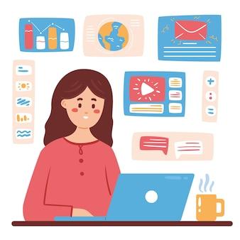 Illustration du concept multitâche