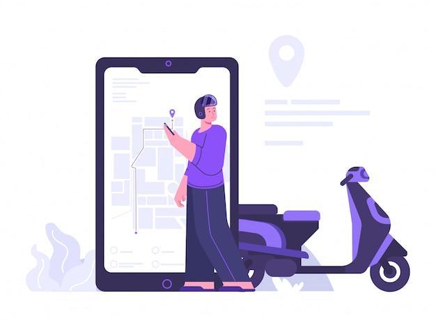 Illustration du concept de navigation