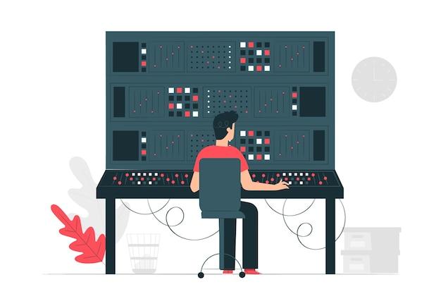 Illustration du concept de panneau de commande