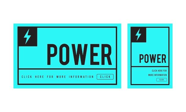 Illustration du concept de puissance