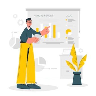 Illustration du concept de rapport