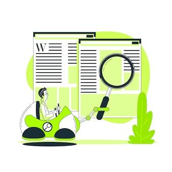 Illustration du concept de recherche