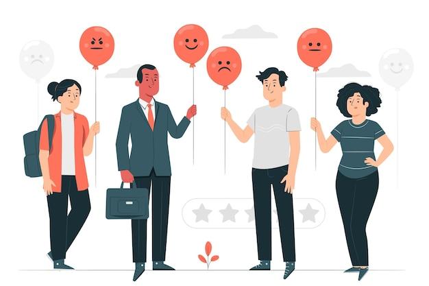 Illustration du concept de rétroaction des clients