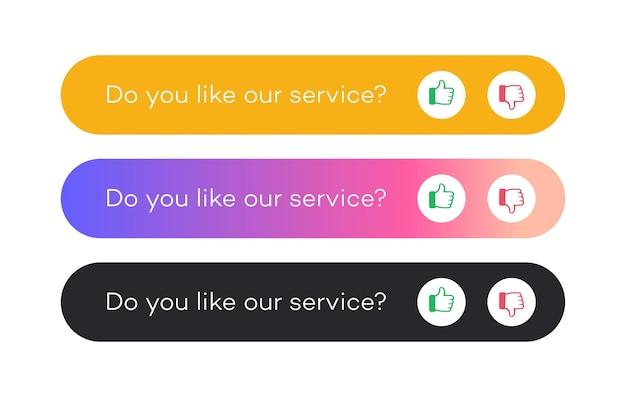 Illustration du concept de rétroaction votre opinion compte symbole annoncer offre de promotion commentaire client