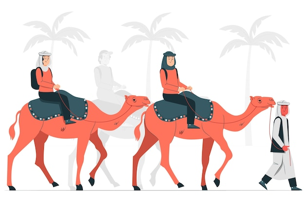 Illustration du concept de route de la soie