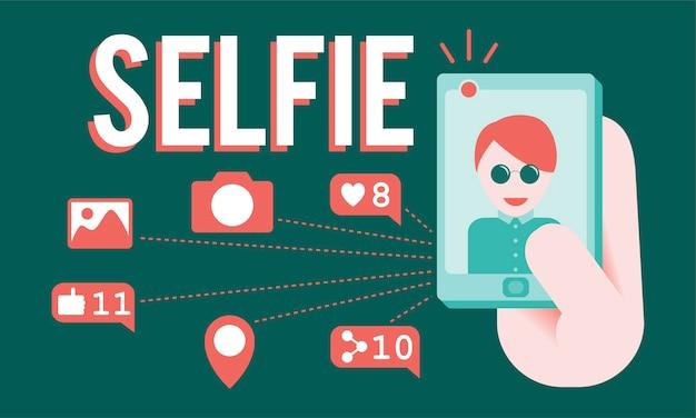 Illustration du concept de selfie
