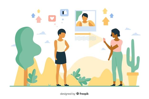 Illustration du concept de téléchargement d'image