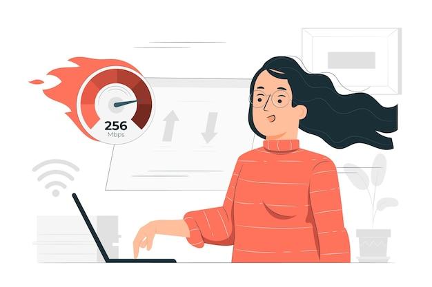 Illustration du concept de test de vitesse